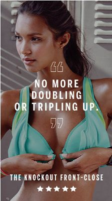 Sports Bras - Padded, Front Close & High Impact - Victoria's Secret