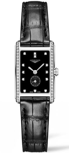 Longines Watch DolceVita Pre-Order #basel-15 #bezel-diamond #case-material-steel #case-width-20-5-x-32mm #delivery-timescale-call-us #dial-colour-black #gender-ladies #luxury #movement-quartz-battery #new-product-yes #official-stockist-for-longines-watches #packaging-longines-watch-packaging #pre-order #pre-order-date-30-06-2015 #preorder-june #style-dress #subcat-dolcevita #supplier-model-no-l5-255-0-57-0 #warranty-longines-official-2-year-guarantee #water-resistant-30m