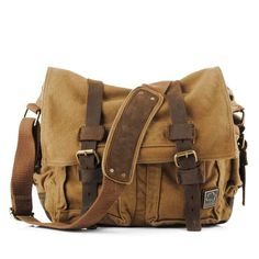 Cheap military handbag, Buy Quality leather laptop directly from China canvas messenger bag Suppliers: MeiyaShidun Men Vintage Canvas messenger bag leather Laptop male travel retro school bags hasp military handbags Mochila Escolar Military Messenger Bag, Vintage Messenger Bag, Canvas Messenger Bag, Messenger Backpack, Laptop Shoulder Bag, Large Shoulder Bags, Leather Shoulder Bag, Shoulder Strap, Military Fashion