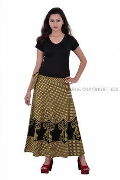 Ethnic Floral Rapron Sarong Long Indian Women Printed Cotton Wrap Around Skirt Cotton Skirt, Cotton Fabric, Green Wrap, Wrap Around Skirt, Print Wrap, Calves, Perfect Fit, Midi Skirt, Women Wear