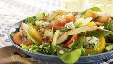Food N, Food And Drink, Salad Recipes, Healthy Recipes, My Cookbook, Halloumi, Fresh Rolls, Food Hacks, Cobb Salad