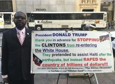 Using the Clinton Foundation as a front, Bill & Hillary scammed millions in donations meant to aid the Haitians after their 2010 earthquake.