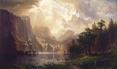 Albert Bierstadt (1830-1902), Among the Sierra Nevada Mountains, California - 1868