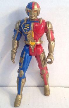 1995 Bandai Sabans VR Troopers Action Figure Ryan Steele Power Rangers Mega Tech | eBay
