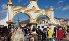 Entrance to the Flea Market at Fuengirola, Spain
