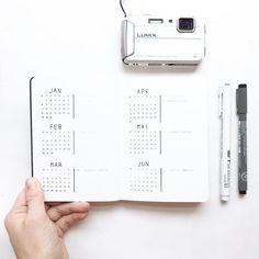 Bullet journal future log, minimalist bullet journal future log. | @northernplanner