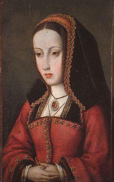 """Juana I Reina de Castilla, madre de Carlos I Rey de España, la tercera de los hijos de Fernando II de Aragón y de Isabel I de Castilla, llamada """"La Loca"""""""