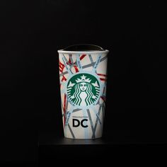 A+double-walled,+ceramic+travel+mug+featuring+the+streets+and+neighborhoods+of+Washington,+D.C.+Part+of+the+Dot+Local+Collection.