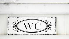 Bad-Accessoires - Shabby Vintage Dekoschild WC Nostalie antiklook - ein Designerstück von homestyle-accessoires bei DaWanda
