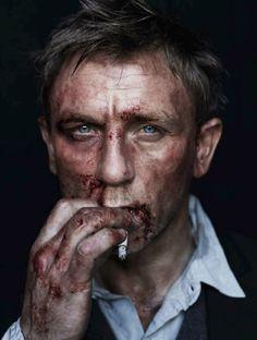 Daniel Craig, enjoying a smoke.