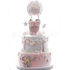 İkizlere baby shower pastası