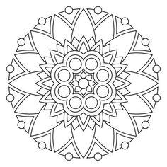 Geometric and abstract this is a modern mandala coloring page for adults to print and color in. Description from pinterest.com.