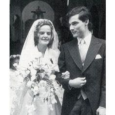 Archduchess Andrea Maria von Habsburg and her groom Karl Eugen Erbgf von Neipperg.
