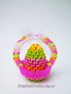 Hey, I found this really awesome Etsy listing at https://www.etsy.com/listing/227788737/easter-3d-origami-easter-egg-in-a-basket