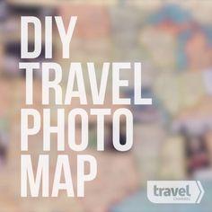 DIY Travel Photo Map