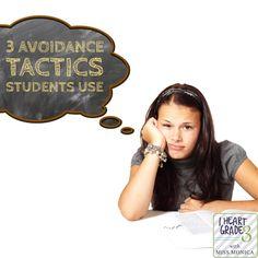 3 Avoidance Tactics Students Use. - I Heart Grade 3 Classroom Management Strategies, Behavior Management, Class Management, Student Behavior, Classroom Behavior, Classroom Ideas, Third Grade Math, Grade 3, Teacher Blogs
