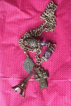 Reliquary necklace Paris souvenir Vintage Paris Joan of Vintage Paris, Vintage Silver, French Vintage, Paris Souvenirs, Beautiful Paris, Joan Of Arc, Rosary Necklace, Metal Beads, Notre Dame