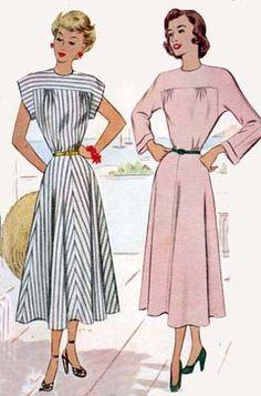 McCall's 7260 dress pattern, 1940s