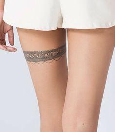 around a thigh tattoo