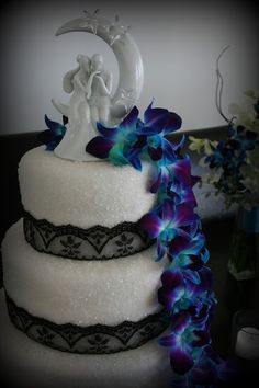 Amazing The Cake Cottage: Embroidered Teal And Coral Sugar Flowers Wedding Cake | Wedding  Cakes | Pinterest | Sugar Flowers, Cottages And The Ou0027jays