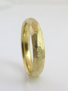 14K Gold Wedding Ring Gold wedding band by inbarfinejewelry