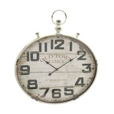 Tell time in a stylish way when you decorate your home with the 35-inch Old World Wall Clock. This wall clock is carefully crafted using iron to bring you a timeless piece. This off-white clock will complement your decor.