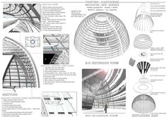 Detail drawings of the dome structure.