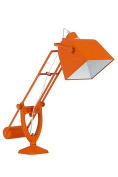 Youri lampe de bureau orange à contrepoids $140 Eu.