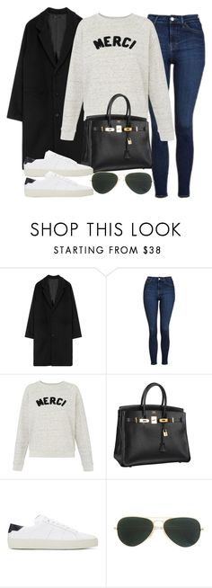 """Sin título #12146"" by vany-alvarado ❤ liked on Polyvore featuring Topshop, Whistles, Hermès, Yves Saint Laurent and Ray-Ban"
