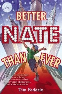 Better Nate Than Ever by Tim Federle.  Middle schooler Nate Foster sneaks away from home in Jankburg,  Pennsylvania to audition for the Broadway musical of  E.T. in New York.  - November, 2012, Bayviews