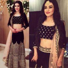 @manidrehar❤ Indian Wedding Outfits, Indian Outfits, Indian Attire, Indian Wear, Pakistani Dresses, Indian Dresses, Black Lehenga, Patiala Salwar, Anarkali