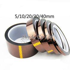 Envío de la Alta Calidad 5 unids/lote 5/10/20/30/50mm X 33 m de Alto temperatura cinta Resistente Al Calor BGA Poliimida