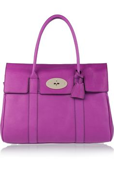 Mulberry: bayswater leather bag - ooooh purple, I want!