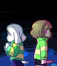 Asriel and Chara by Rensaven on DeviantArt