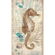 Vintage Seahorse Art from Suzanne Nicoll