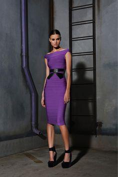 Herve Leger PF '13 purple dress violet dress