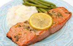 Baked Salmon With Garlic And Dijon Recipe..