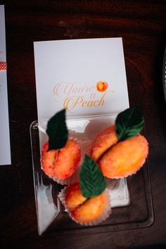 Classic Peach Inspired Wedding / Magnolia Lettering / You're a Peach Menu Sign