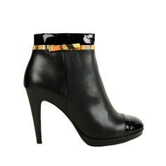 Paul Smith Shoes Womens Black Swirl Trim Ankle Boots