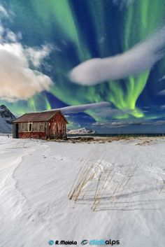 Lofoten Islands Northern Norway Europe -The Green Cabin by Roberto Sysa Moiola on 500px