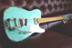 #Relic #Guitars The Hague Surf Green heavy relic'd #Cabronita #guitarporn