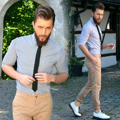 Asos Shirt, Dolce & Gabbana Tie, Asos Chino, Dr. Martens Shoes #fashion #mensfashion #menswear #mensstyle #style #outfit #ootd