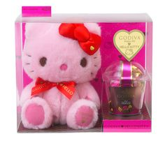ハローキティ ドール&GODIVA - hello kitty teaming with godiva chocolates for valentines day in japan. hmmmm..... i wonder how many males would love to receive a pink hello kitty plushie?