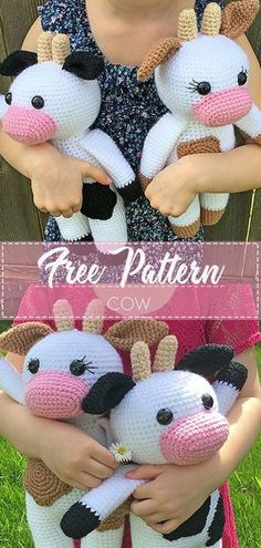 Amigurumi Cow Pattern By Grace And Yarn Amigurumi Cow Pattern By Grace And Yarn This Is A Listing For A Pdf Printable Pattern Not A Finished Product Amigurumi Cow Free Crochet Pattern Crochet Love Crochet Cow, Crochet Amigurumi Free Patterns, Crochet Animal Patterns, Crochet Gifts, Crochet Dolls, Crochet Yarn, Crochet Flowers, Crochet Ideas, Easy Crochet Animals