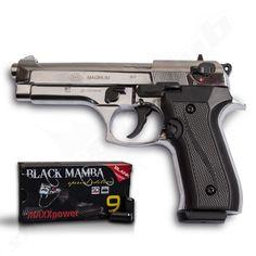 Firat Magnum chrom P.A.K + 50 Black Mamba Platzpatronen
