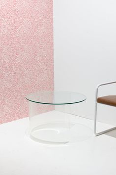 Acrylic and Glass Demilune Table, 1970s — Bi-Rite Studio