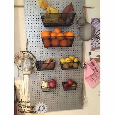 Tired of all of that clutter in your garage, craft room, or kitchen counter tops? Organize with pegboard to keep your whole home neat and clutter-free. Refrigerator Organization, Wall Organization, Kitchen Shelves, Kitchen Storage, Kitchen Pegboard, Kitchen Craft, Pantry Storage, Garage Storage, Kitchen Ideas