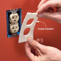 Use foam gaskets to seal electrical boxes. According to energy experts, electrical boxes that hold switches or outlets are major sources of heat loss. Foam gaskets won't completely seal the boxes, but they'll help. They're quick to install— just take off the cover plate, stick the gasket over the box, then put the plate back on. [Does this apply to UK?]