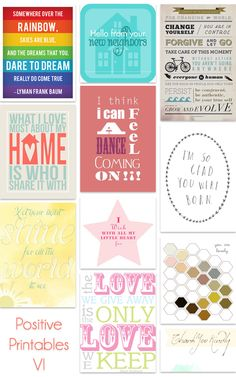 positive printables part 6 from kind over matter {printable}