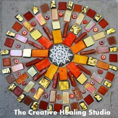 Healing Mosaic Mandala - My life is full of joy. I choose to be happy, fulfilled, and content.
